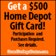$500 Home Depot Gift Card