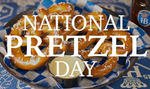 Happy National Pretzel Day from Pumpkins Freebies